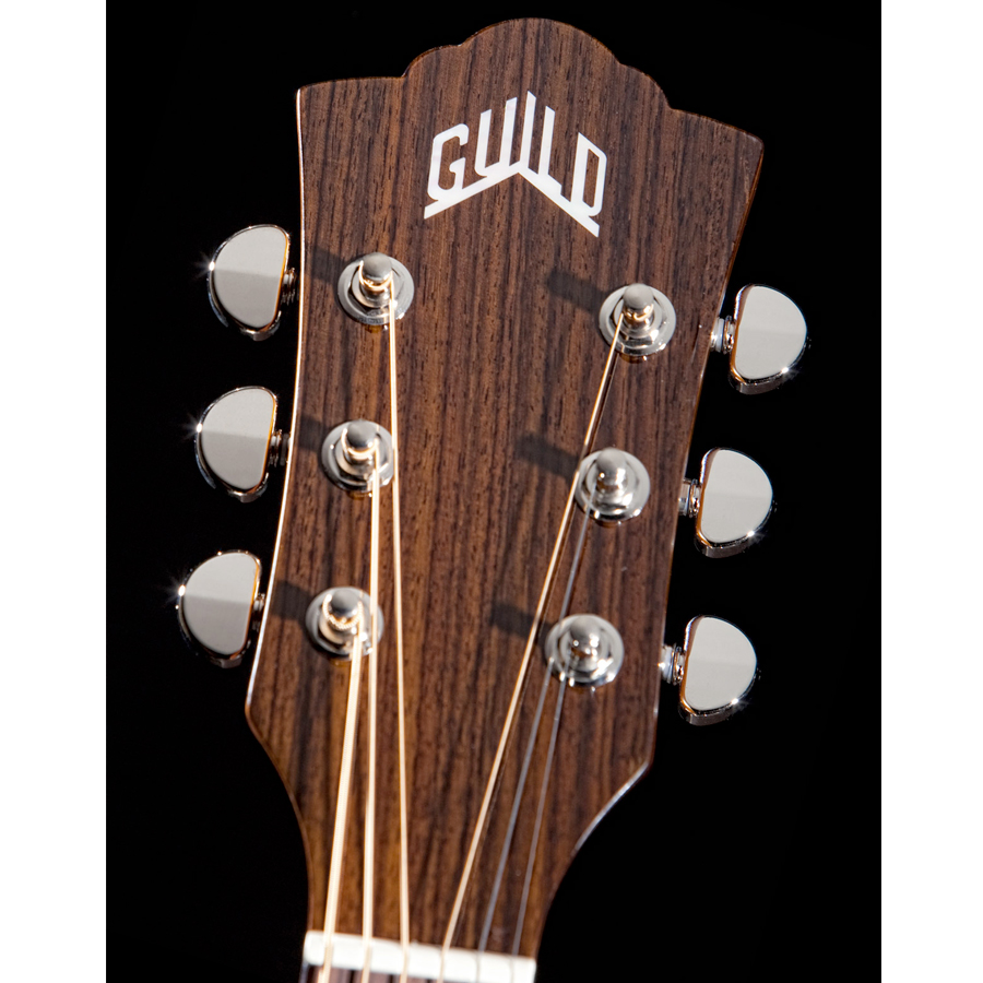Guild D-150CE Natural Headstock Detail