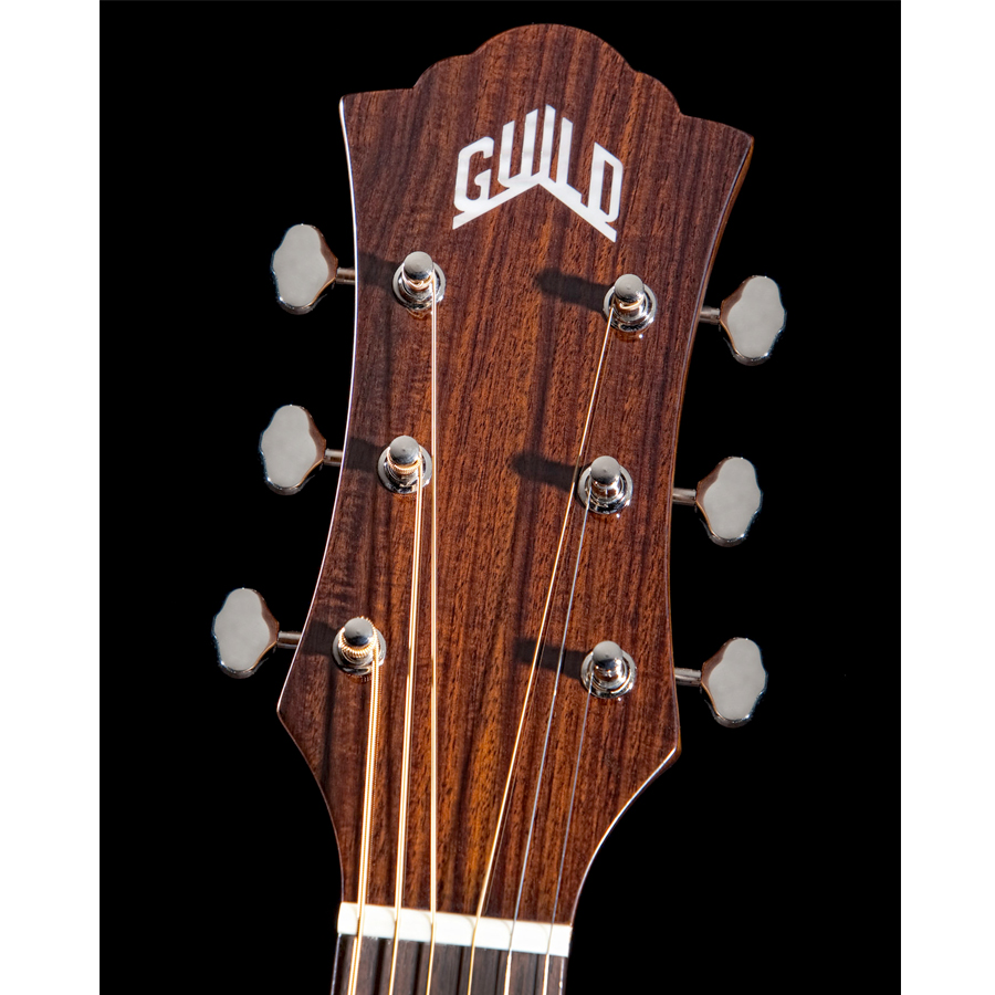 Guild F-130RCE Natural Headstock