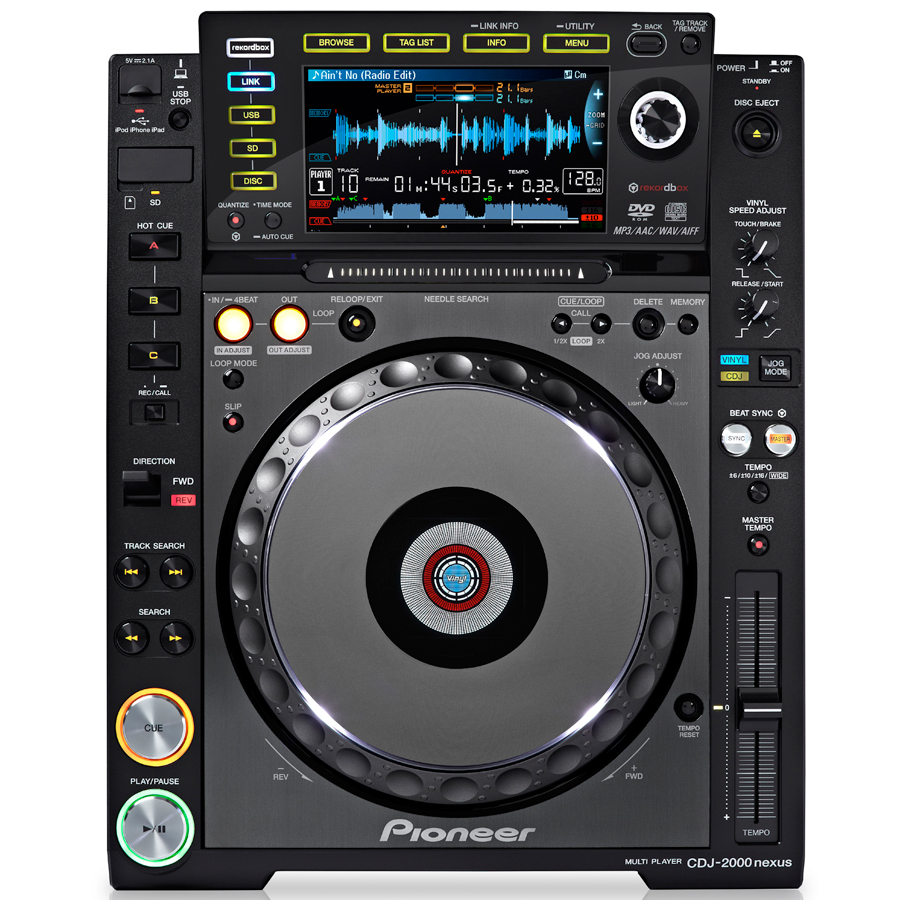 Pioneer CDJ-2000 NXS Nexus Top View
