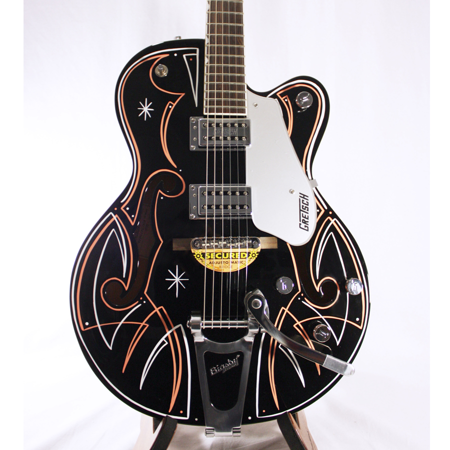 Gretsch G5120 Electromatic Black with Custom Hand Painted Graphix Body Detail