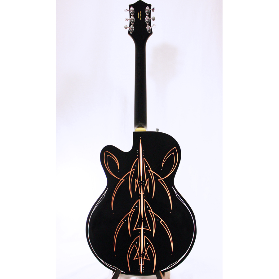 Gretsch G5120 Electromatic Black with Custom Hand Painted Graphix Rear View