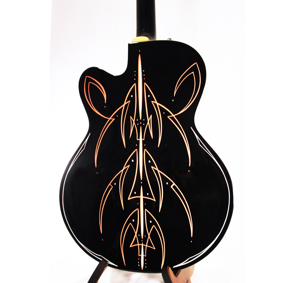 Gretsch G5120 Electromatic Black with Custom Hand Painted Graphix Rear Detail
