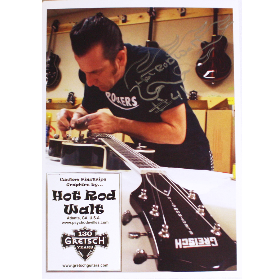 Gretsch G5120 Electromatic Black with Custom Hand Painted Graphix Autographed Artist Photo