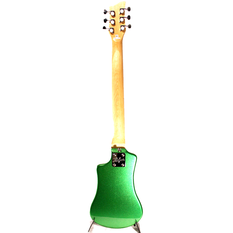 Hofner Shorty Guitar - Cadillac Green Rear View