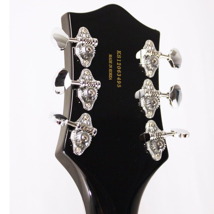 Gretsch G5120 Electromatic Black with Custom Hand Painted Graphics Blemished Rear Headstock Detail