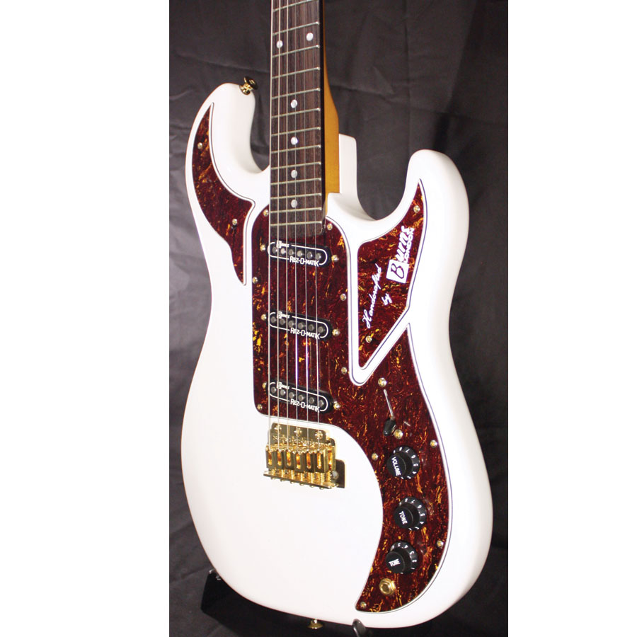 Burns BL-900 White Body Angled