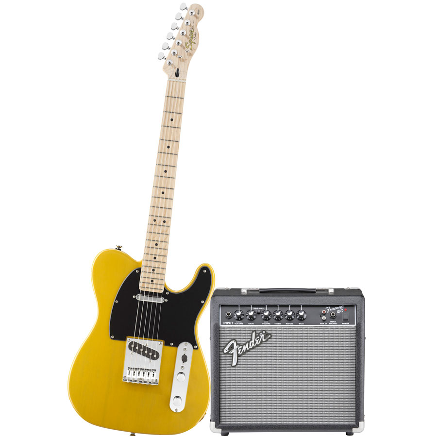 Squier Stop Dreaming, Start Playing! Affinity Tele Butterscotch Blonde with Frontman 15G Amp Guitar with Amp