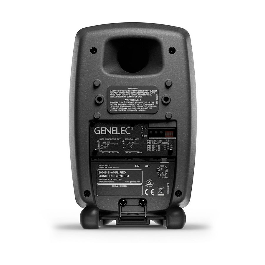 Genelec 8020CPM Pair Producer Black Rear View
