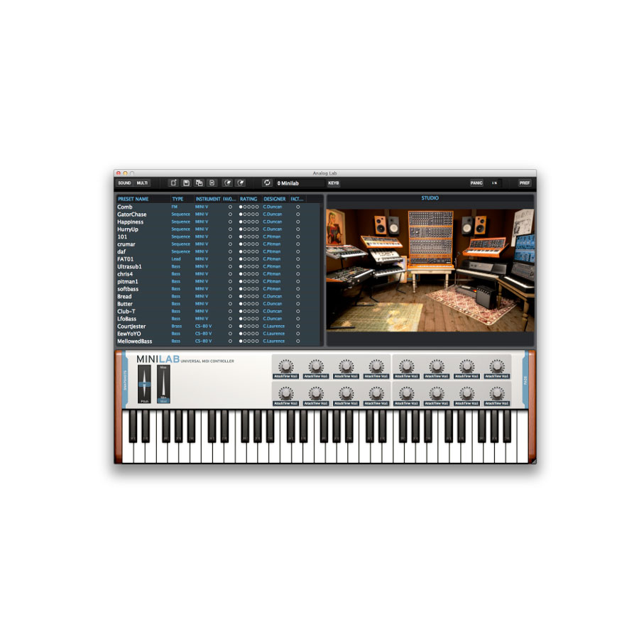 Arturia KeyLab 49 Software Screenshot