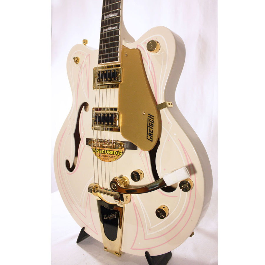Gretsch G5422TDCG Electromatic Hollow Body Cherry Blossom with Custom Hand Painted Graphics Body Detail