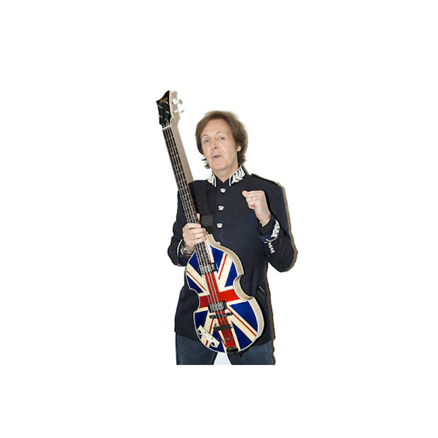Hofner 2012 Diamond Jubilee Violin Bass - Union Jack 45 of 60 Paul McCartney