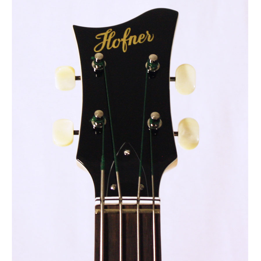 Hofner 2012 Diamond Jubilee Violin Bass - Union Jack 45 of 60 Headstock View