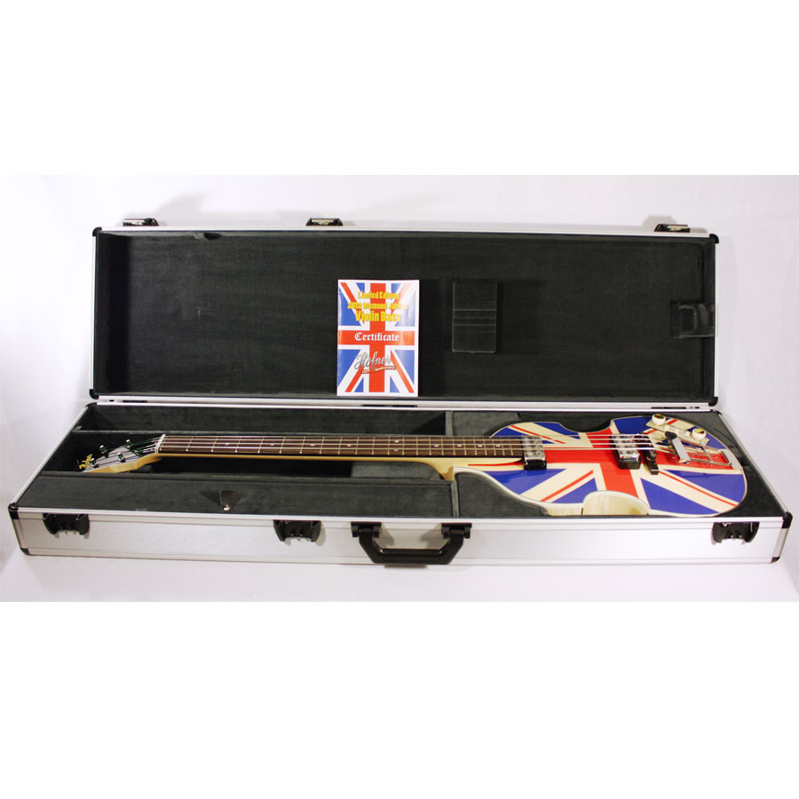 Hofner 2012 Diamond Jubilee Violin Bass - Union Jack 45 of 60 In Case
