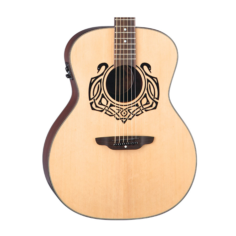 Luna Guitars Celtic Swan Body Detail