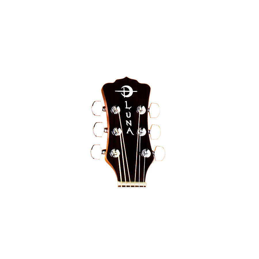 Luna Guitars Gypsy Lady Of Shalott Headstock Detail