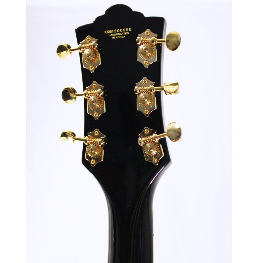 Guild M-75 Aristocrat Limited Edition Black Rear Headstock Detail