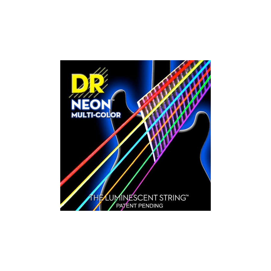 Hi-Def NEON Multi-Color Coated Electric Guitar Strings - MEDIUM