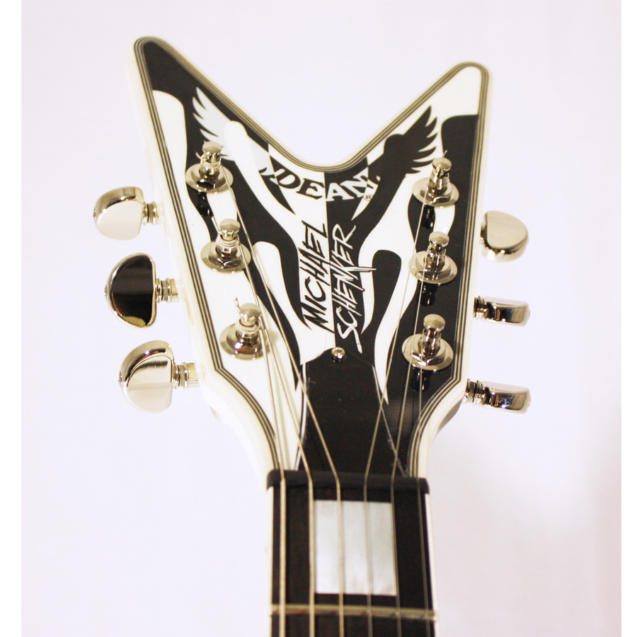 Dean USA Michael Schenker Signature Flames Headstock Detail