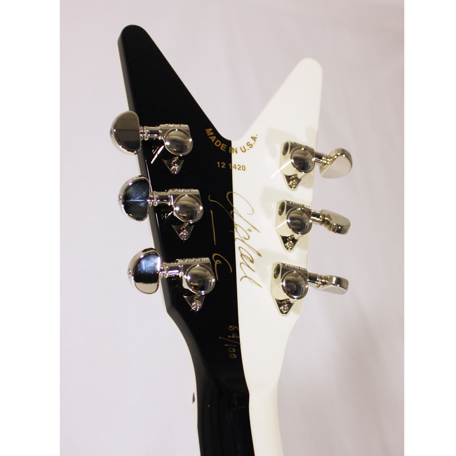 Dean USA Michael Schenker Signature Flames Rear Headstock Detail