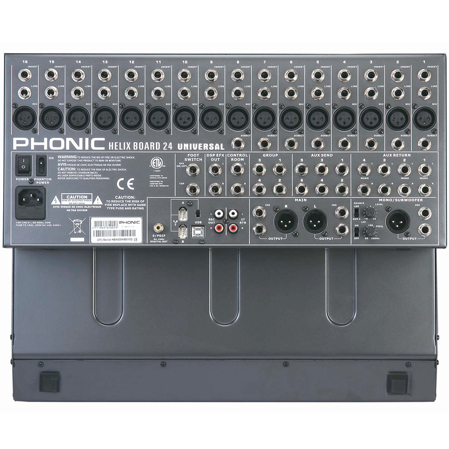 Phonic Helix Board 24 Universal Rear View