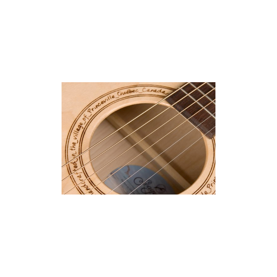 Seagull Excursion Natural Folk SG Soundhole Detail