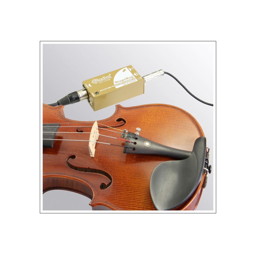 Radial StageBug SB-4 On Violin