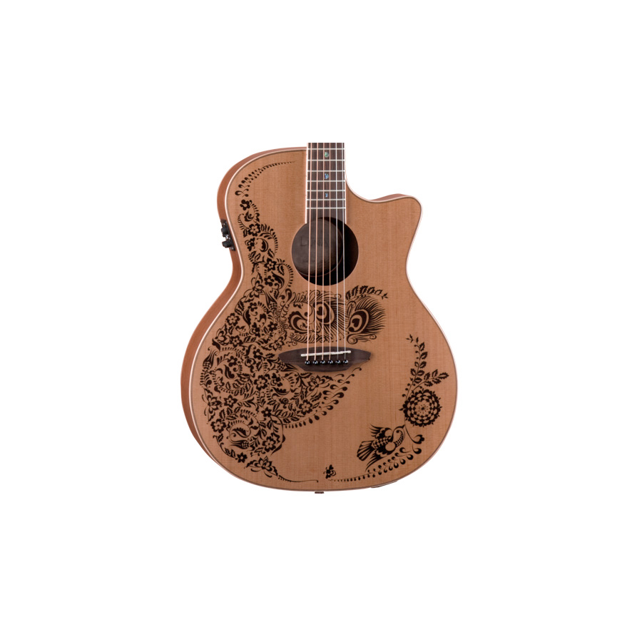 Luna Guitars Henna Oasis - Cedar Nylon Body Detail