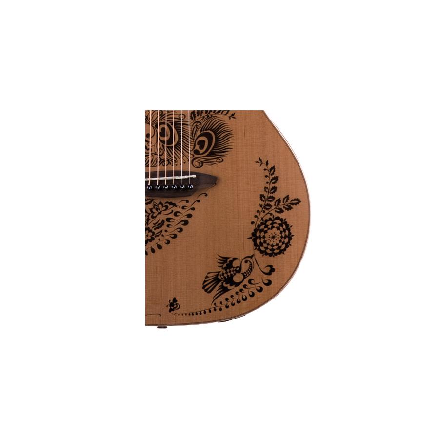 Luna Guitars Henna Oasis - Cedar NylonDetail