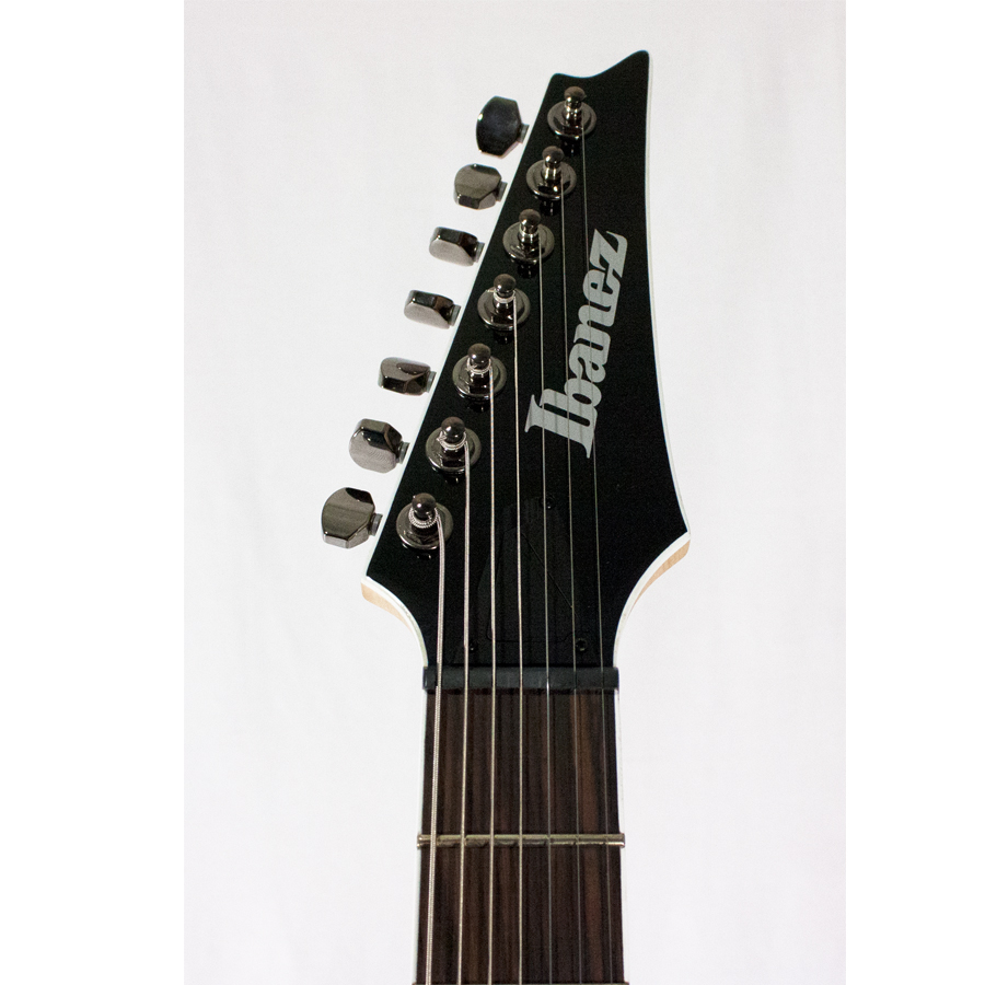 Ibanez RGIR27FE Black AUCTION Headstock Detail