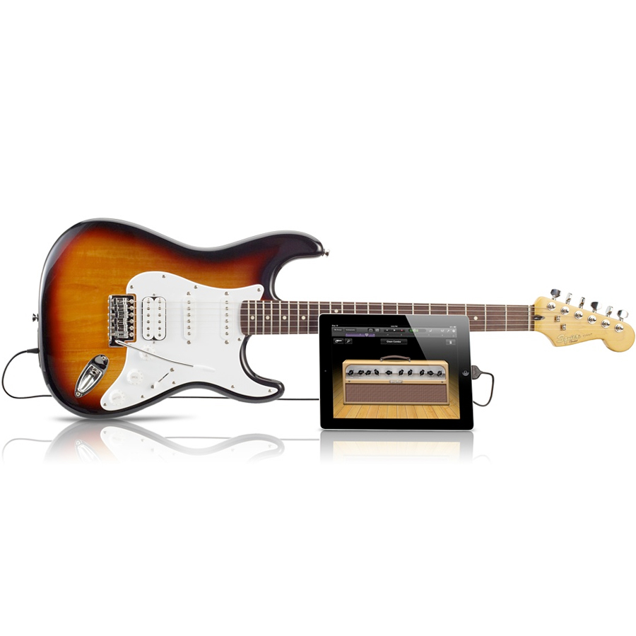 Squier USB Stratocaster Brown Sunburst w iPad