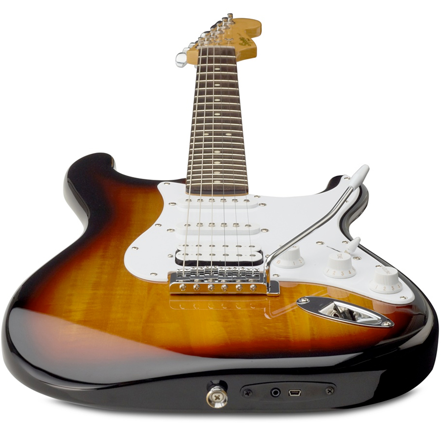 Squier USB Stratocaster Brown Sunburst Bottom View