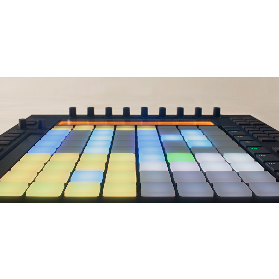 Ableton Push Push has 64 velocity and pressure sensitive RGB Pads