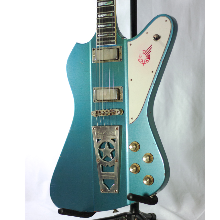Washburn Paul Stanley Starfire Time Traveler - Pelham Blue Body Detail