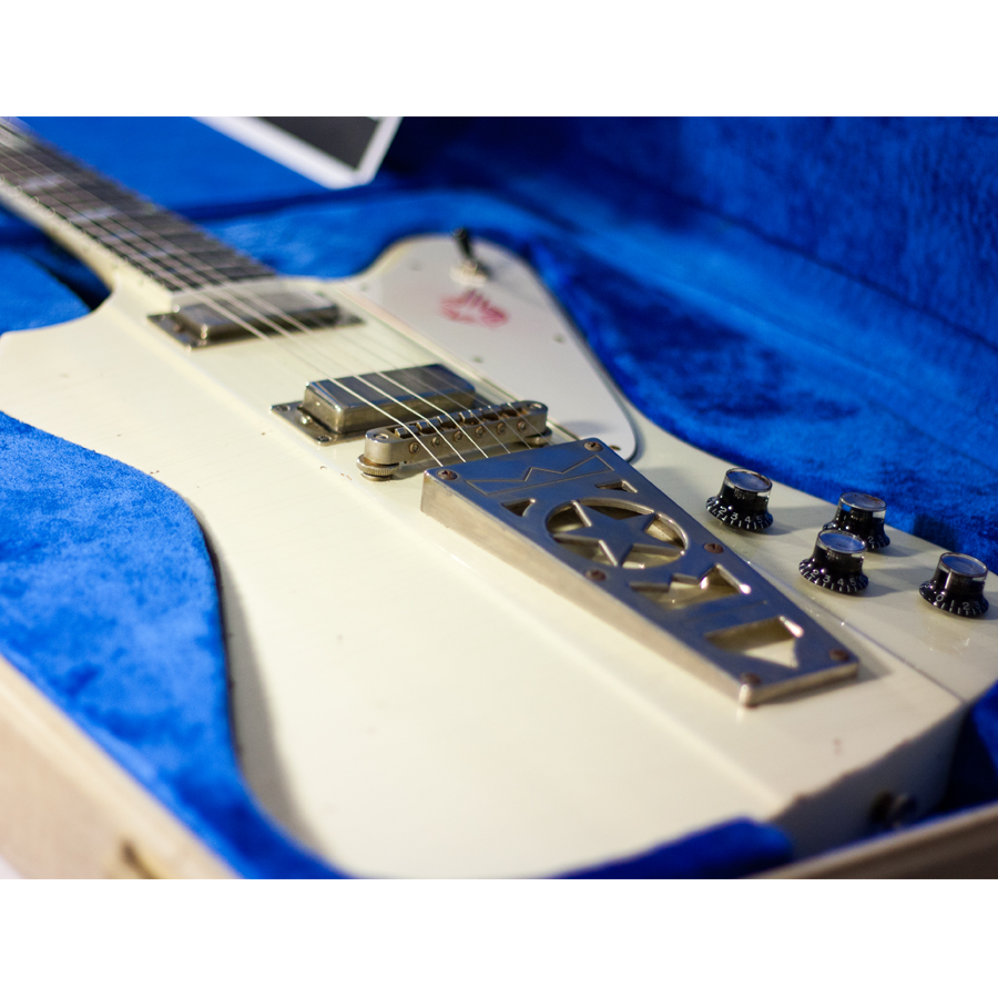 Washburn Paul Stanley Starfire Time Traveler - Polaris White Body Detail 2