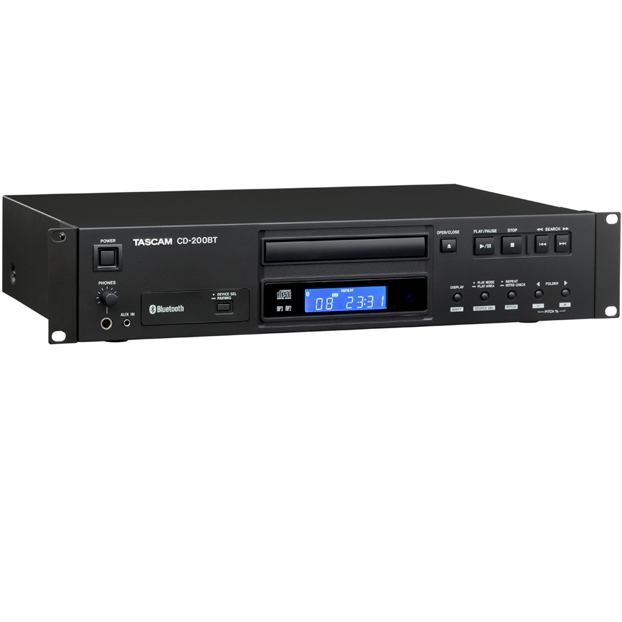Tascam CD-200BT Angled View