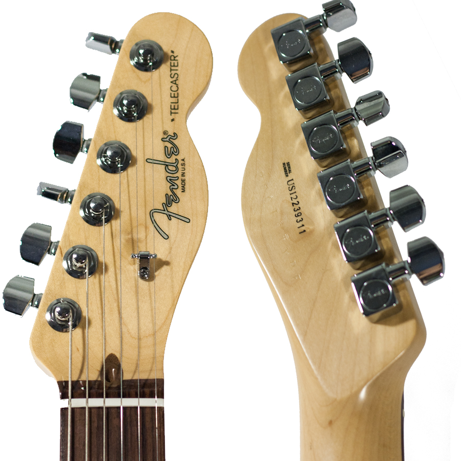 Fender American Design Monkeypod Prototype Telecaster Headstock View