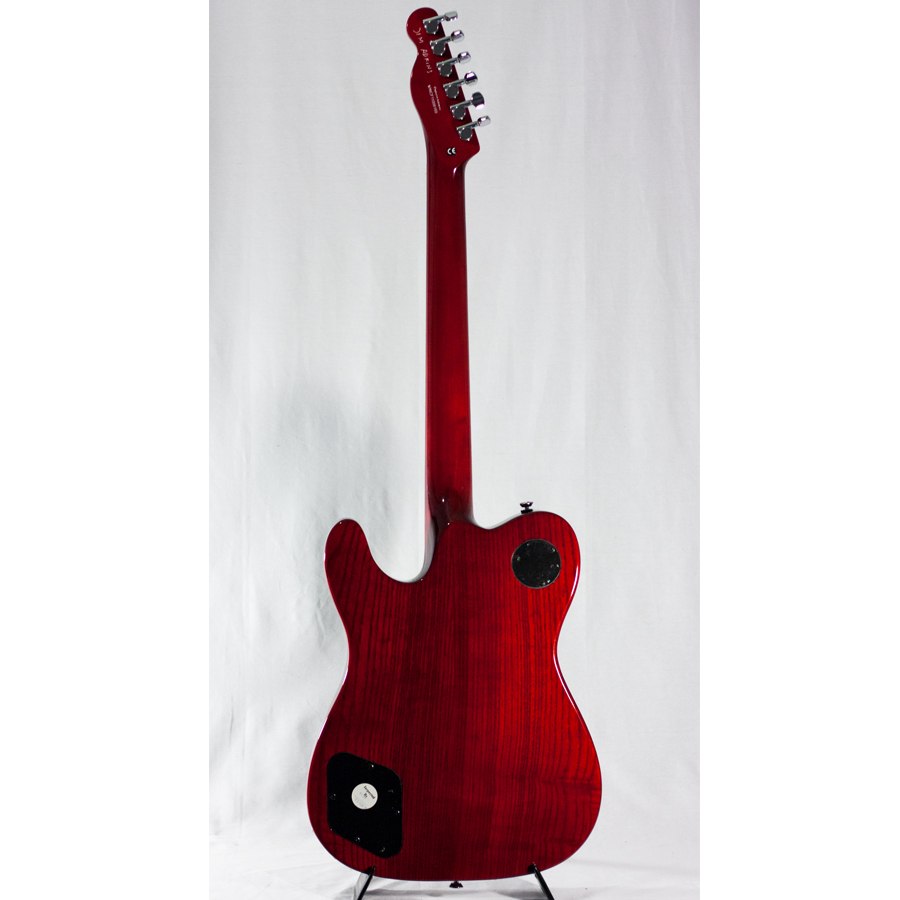 Fender JA-90 Telecaster Thinline - Crimson Transparent Blemished Rear View