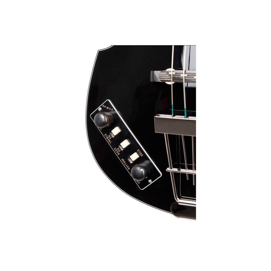 Hofner Limited Edition Violin Beatle Bass 125th Anniversary Black View 3 Shown in Left Handed