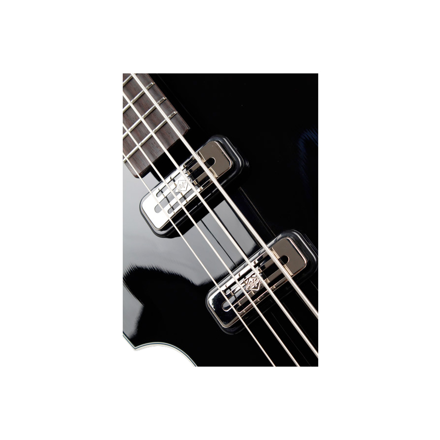 Hofner Limited Edition Violin Beatle Bass 125th Anniversary Black Pickups Shown in Left Handed