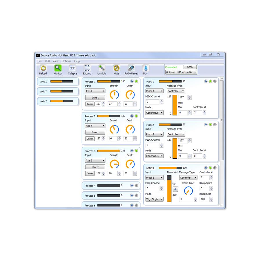 Hot Hand USB Software Editor