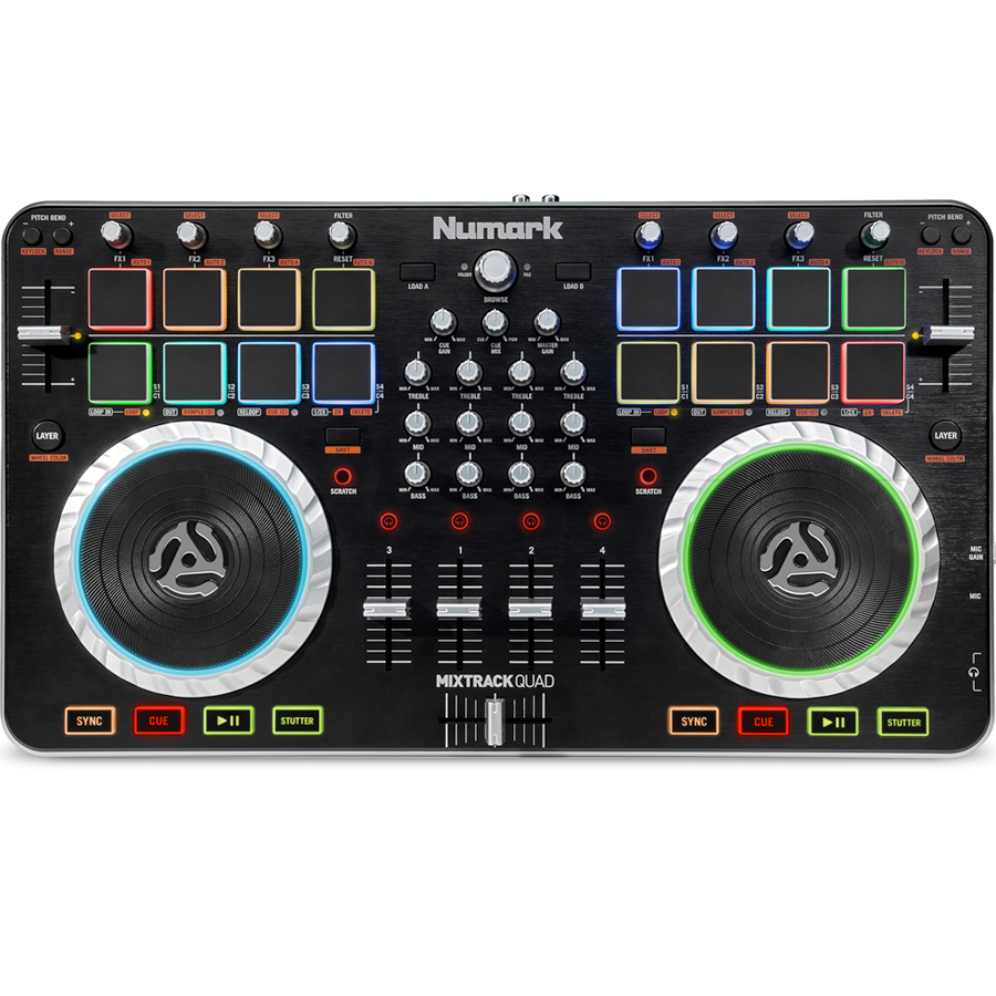 Numark Mixtrack Quad Top View