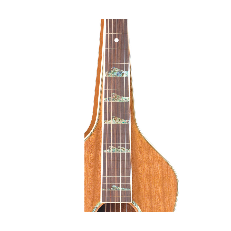 Luna Guitars Weissenborn-Style Hawaiian Solid Neck Detail