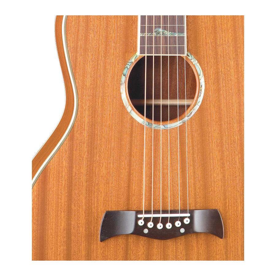 Luna Guitars Weissenborn-Style Hawaiian SolidBody Detail