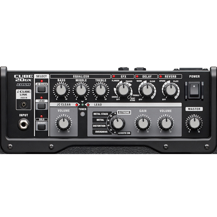 Roland CUBE-20GX Black Top View