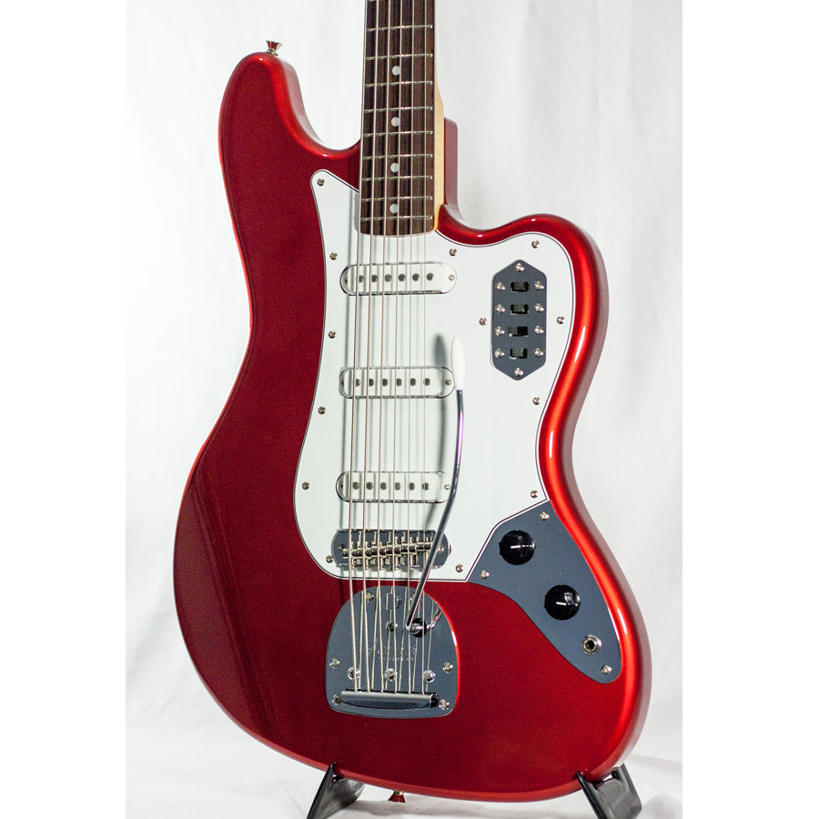 Fender 2013 LTD Bass VI Candy Apple Red Body Detail