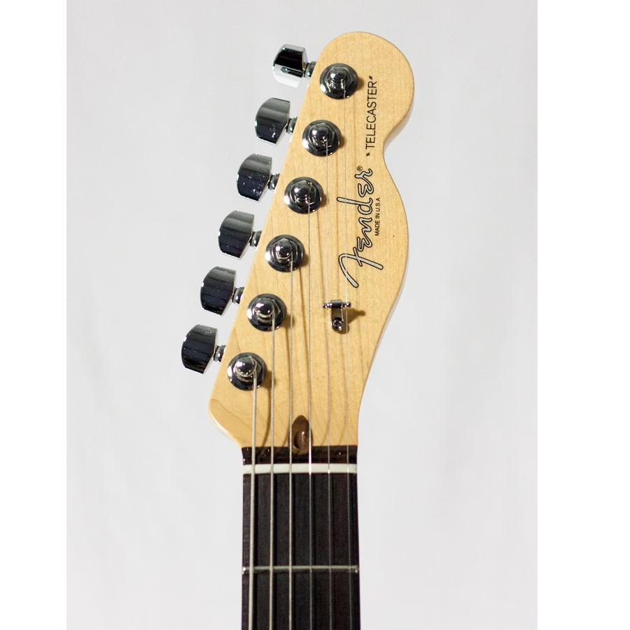 Fender American Standard Telecaster - 3-Color Sunburst with Case - Rosewood Blemished Headstock Detail