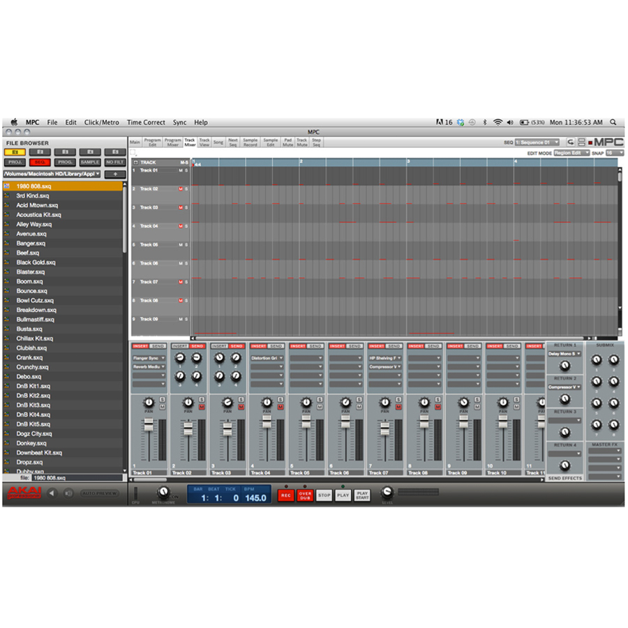Akai MPC Studio Screenshot