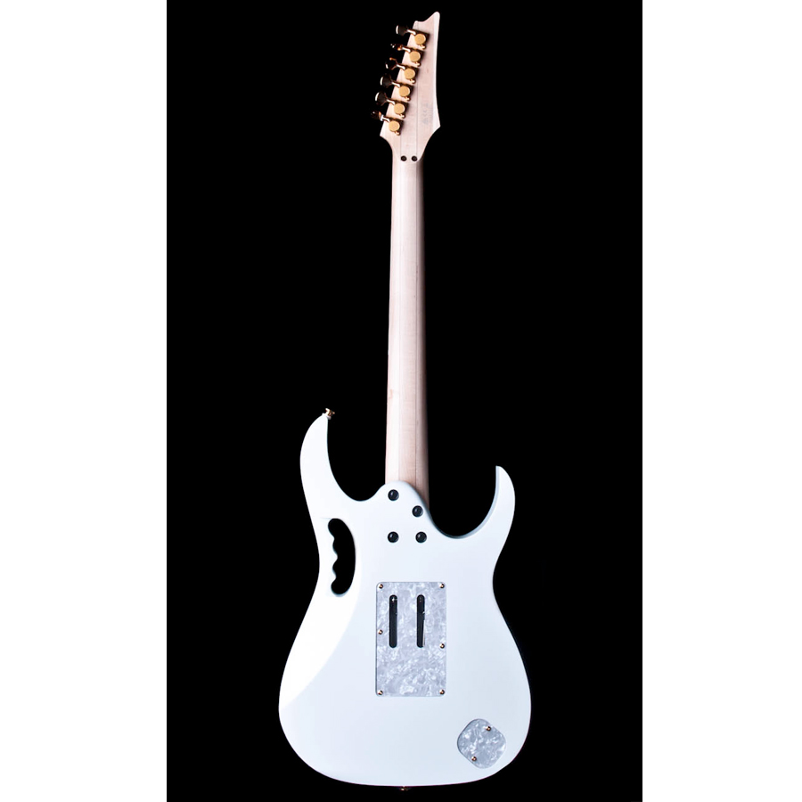 Ibanez JEM7VWHL Steve Vai Signature Left-Handed - White Rear View