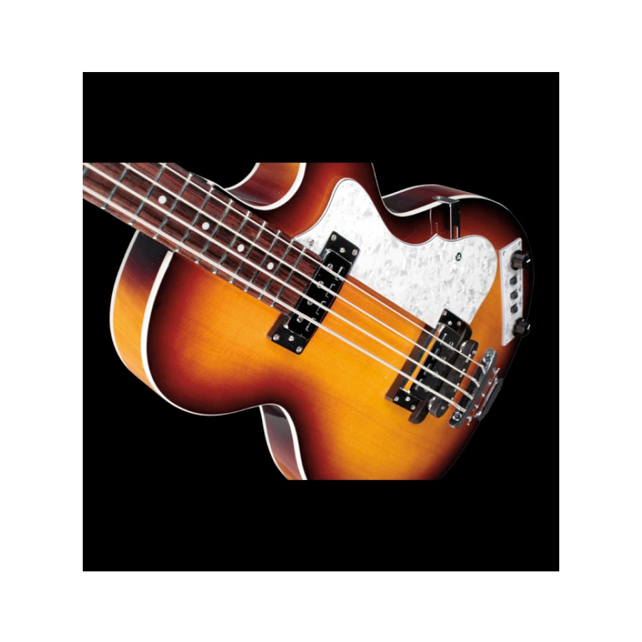 Hofner Club Bass - Ignition Trans Black Rear View in Sunburst