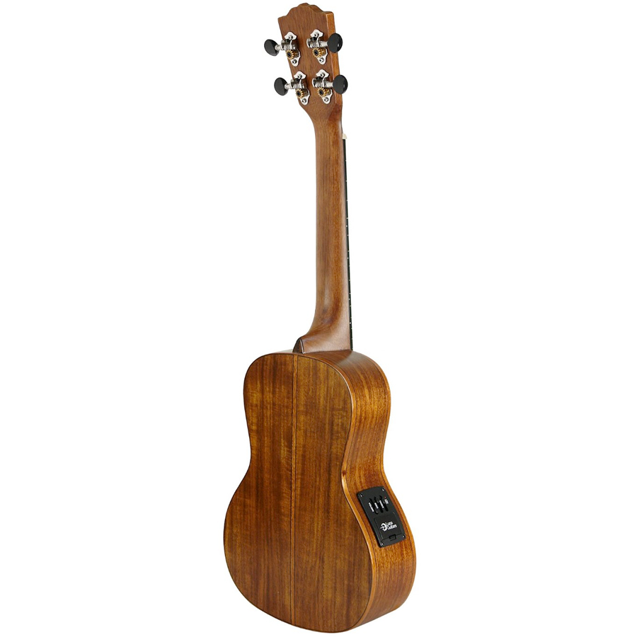 Luna Guitars Orchid Concert Solid Wood Ukulele Rear View